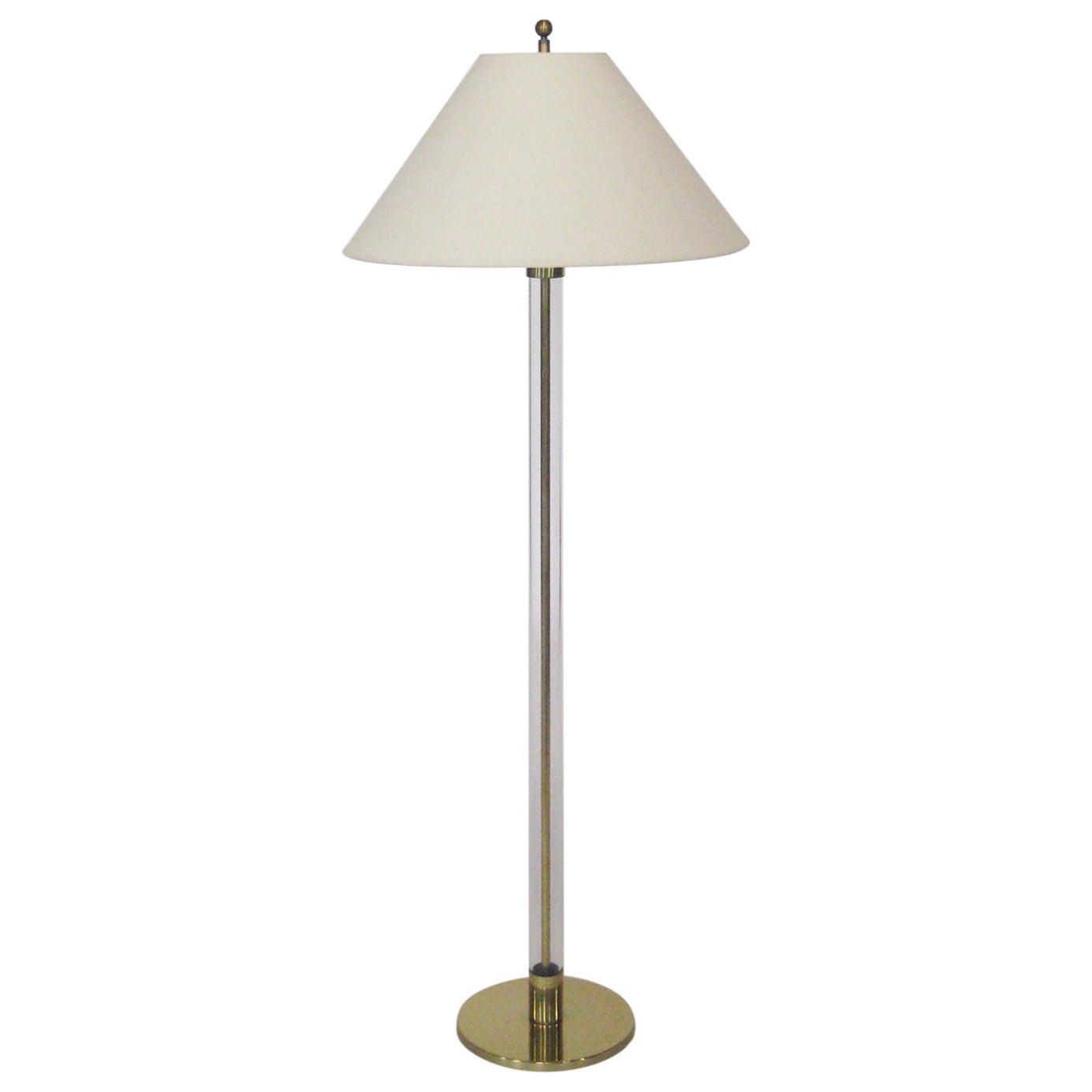 Tubular Glass Floor Lamp by Laurel