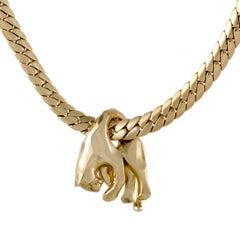 Cartier Panthere Vintage 18 Karat Yellow Gold Pendant Necklace