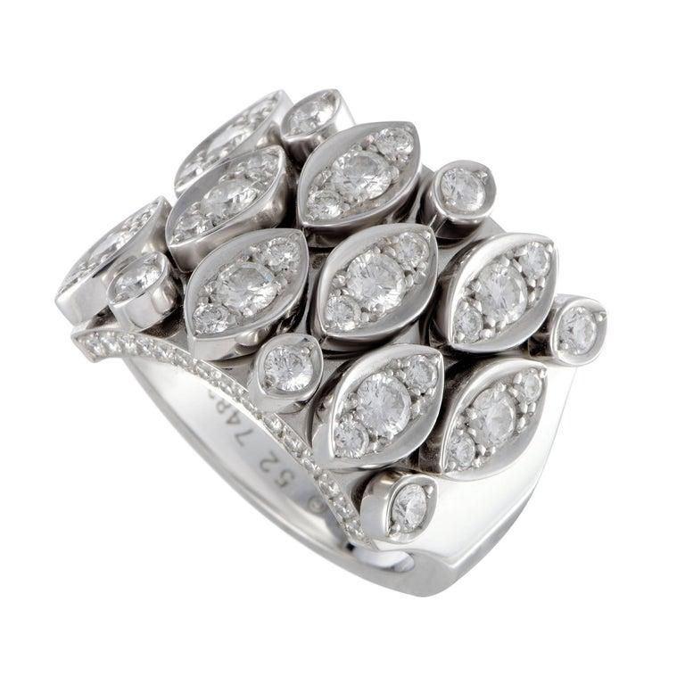 Cartier Diadea 18 Karat White Gold Diamond Pave Band Ring