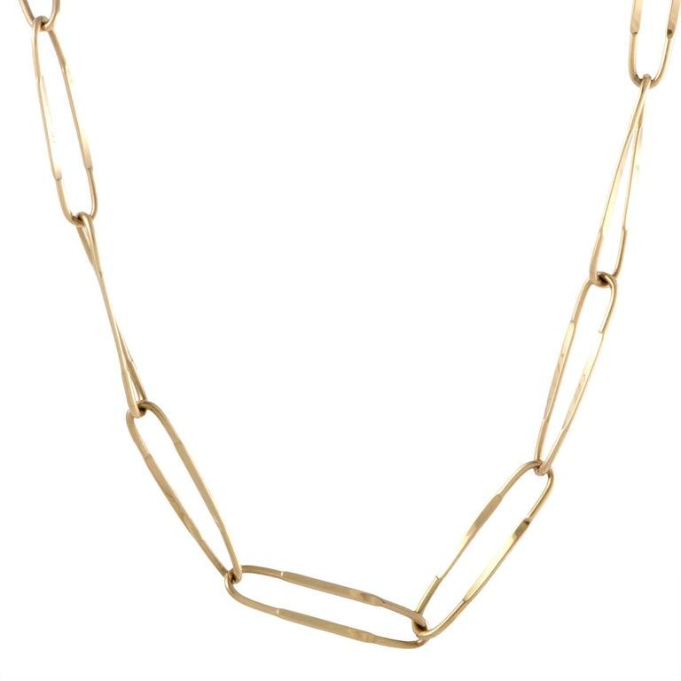 Pomellato Long 18 Karat Yellow Gold Oval Link Necklace