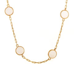 Van Cleef & Arpels Vintage 18 Karat Yellow Gold and Ivory Necklace
