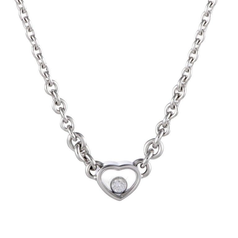 Chopard happy diamonds 18 karat gold floating diamond heart pendant chopard happy diamonds 18 karat gold floating diamond heart pendant necklace for sale aloadofball Images