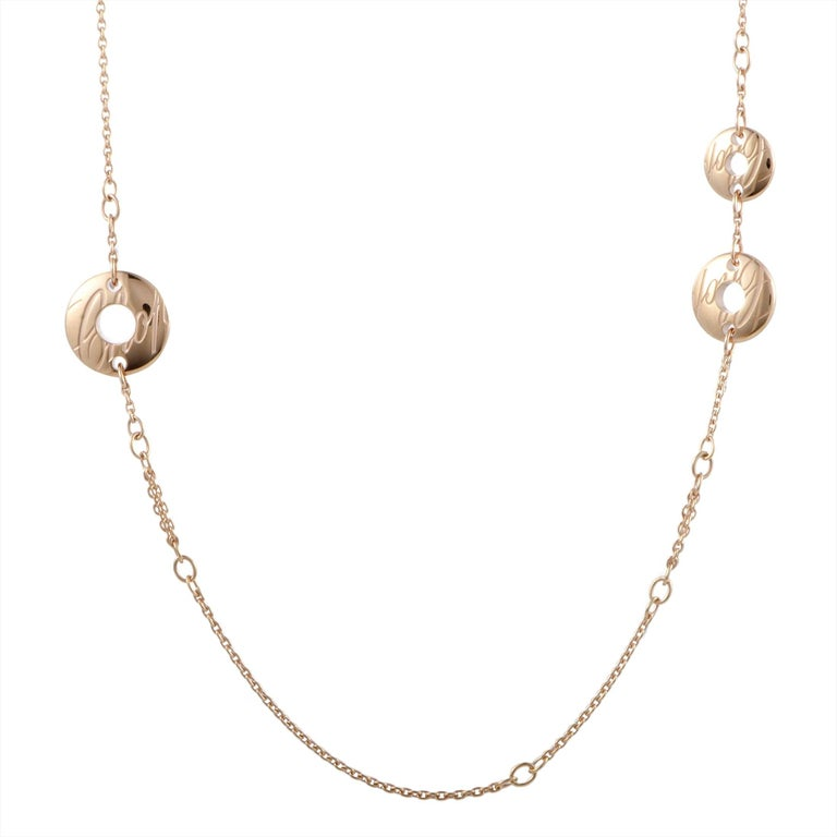 Chopard Chopardissimo 18 Karat Rose Gold Long Sautoir Necklace