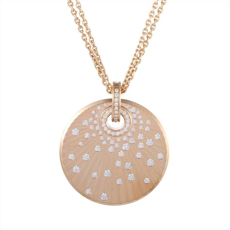 Chopard 18 Karat Rose Gold Diamond Pendant Necklace