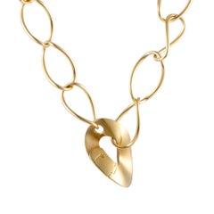 Pomellato 18 Karat Yellow Gold Large Bent Link Necklace