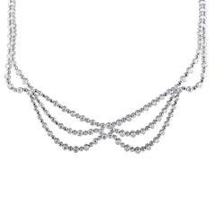 Platinum Diamond Collar Necklace