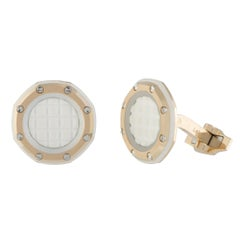 Audemars Piguet Royal Oak Offshore 18K Rose Gold White Rubber Octagonal Cufflink
