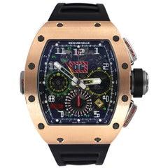 Richard Mille RM 11-02 GMT Rose Gold Titanium Rubber Automatic Men's Watch