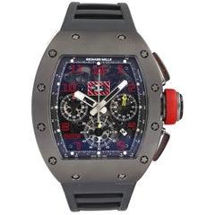 Richard Mille RM011 Sand Blast Titanium Skeleton Rubber Automatic Men's Watch