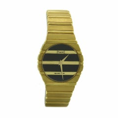 Piaget Polo 791 C 701 18 Karat Yellow Gold Case Quartz Time Only Watch