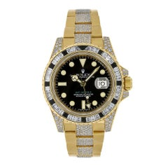 Rolex GMT-Master II 18 Karat Yellow Gold with Factory Diamonds Watch 116758SANR
