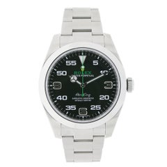 Certified Rolex Air-King Stainless Steel Black Dial Watch 116900