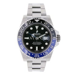 Certified Rolex GMT-Master II Steel Watch Ceramic Bezel Watch 116710BLNR
