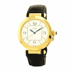Certified Cartier Pasha 42 W3019551 Gold Case Automatic Watch