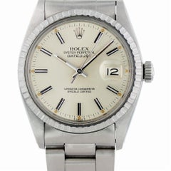 Certified Rolex Datejust 16030 with Band and Silver Dial
