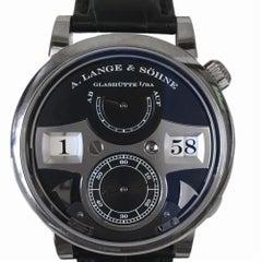 Certified A. Lange & Sohne Zeitwerk 140.029 with band and black diameter
