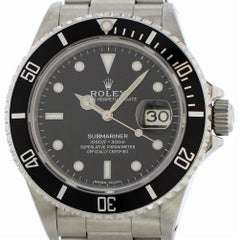 Certified Rolex Submariner 16800 with Band and Black Dial