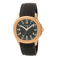 Certified Patek Philippe Aquanaut 5167R-001 Men's Automatic Watch 18 Karat RG
