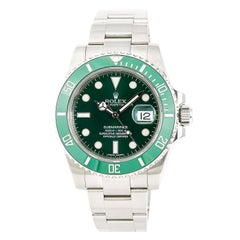 Certified Rolex Submariner Hulk 116610LV Men's Automatic Watch Stainless