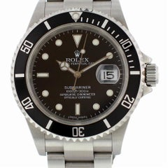 Certified Rolex Submariner 16610 with Band and Black Dial