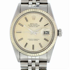 Certified Rolex Datejust 16014 with Band and Silver Dial