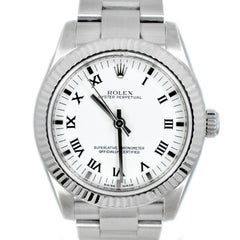 Certified 2006 Rolex Oyster Perpetual 177234 White Dial