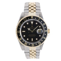 Certified Rolex GMT Master II 16713 with Band, Yellow-Gold Bezel