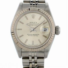 Certified Rolex Datejust 69174 with Band and Silver Dial