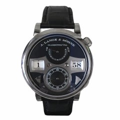 Certified A. Lange & Sohne Zeitwerk 145.029 with Band and Black Dial