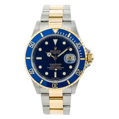 Certified Rolex Submariner 16613T Men's Automatic Watch SS and 18 Karat YG
