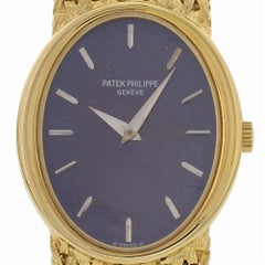 Certified Patek Philippe Ellipse 4225-1 with Band and Purple Dial