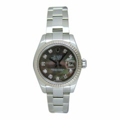 Rolex Ladies 18kt White Gold, SS 26mm Datejust Tahitian Mother of Pearl 179174
