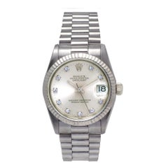 Certified Rolex Datejust 68279 Silver Dial
