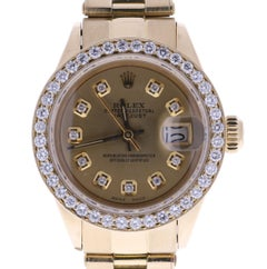 Certified Rolex Datejust 6916 Champagne Dial