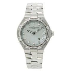 Certified Vacheron Constantin Ladies Overseas 25750 Quartz Factory Diamond Bezel