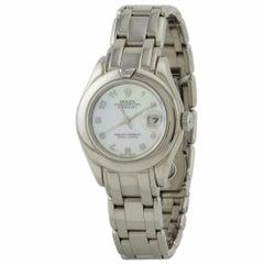 Certified Rolex Pearlmaster 29 69329 18 Karat White Gold Case Women's Watch