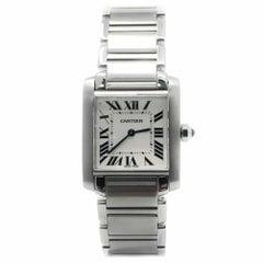 Cartier Tank Francaise Wsta0005 With Silver Dial
