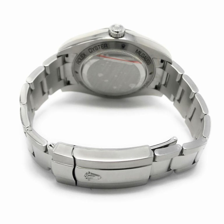 Rolex Milgauss Reference 116400 Mens With A White Stick Dial