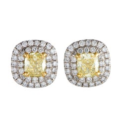 Tiffany & Co. Soleste Platinum & 18K Yellow Gold White & Yellow Diamond Earrings