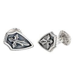 Scott Kay Silver Cross Shield Cufflinks