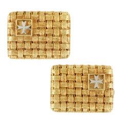 Vacheron Constantin Woven 18 Karat Yellow and White Gold Cufflinks