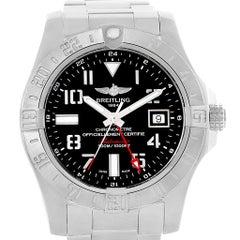 Breitling Aeromarine Avenger II GMT Men's Watch A32390 Box Papers