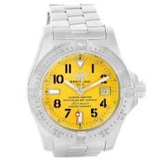 Breitling Aeromarine Avenger Seawolf Yellow Dial Men's Watch A17330