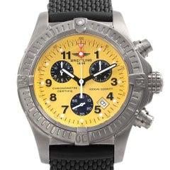 Breitling Aeromarine Chrono Avenger M1 Yellow Dial Titanium Watch E73360