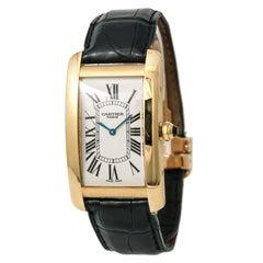 Cartier Tank Americaine Paris Boutique Edition 1735B Men's Hand Wind Watch