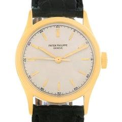 Patek Philippe Calatrava Vintage 18 Karat Yellow Gold Watch 2457 Year 1951