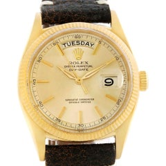 Rolex President Day-Date Yellow Gold Vintage Men's Watch 6611 Box