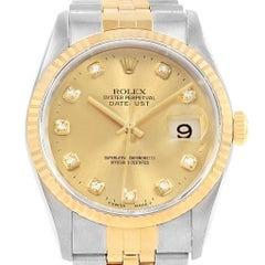 Rolex Datejust Two-Tone Steel Yellow Gold Diamond Unisex Watch 16233