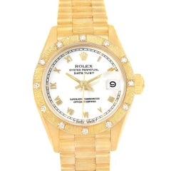 Rolex President Datejust 26 Yellow Gold Diamond Ladies Watch 69288