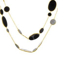 Ippolita 18 Karat Yellow Gold Rock Candy Onyx Necklace GN396NX